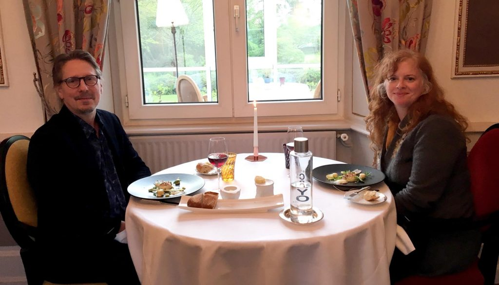 UNK alumnus Tim Carman and his wife Carrie Allan are pictured at Chateau de Sully, a Michelin-starred restaurant in France. Carman, a food reporter for The Washington Post, will speak 7 p.m. Monday at UNK's Copeland Hall. (Courtesy photo)