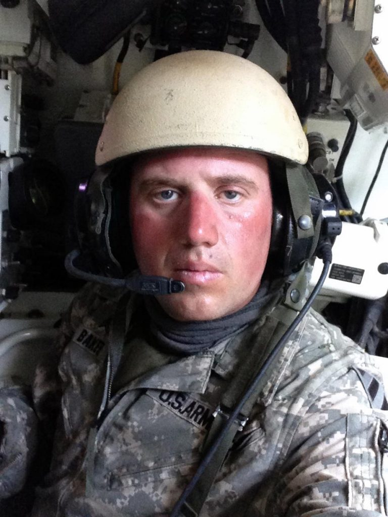 U.S. Army veteran Jason Baker is pictured inside an M1 Abrams tank during a 15-month deployment to Iraq as part of Operation Iraqi Freedom. Baker was a tank commander and sergeant with the Army. (Courtesy photo)