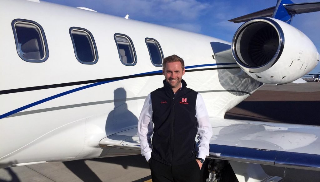 "Jacob Barth, who graduated from UNK in 2007, owns Midwest Management Solutions, which provides aircraft management and charter services for companies such as Hornady Manufacturing, BD Construction and Cash-Wa Distributing. He launched his aviation career at UNK. ""It offered the whole package bigger schools can give you, but with a more personal touch,"" he said of UNK's aviation program. (Courtesy photo)"